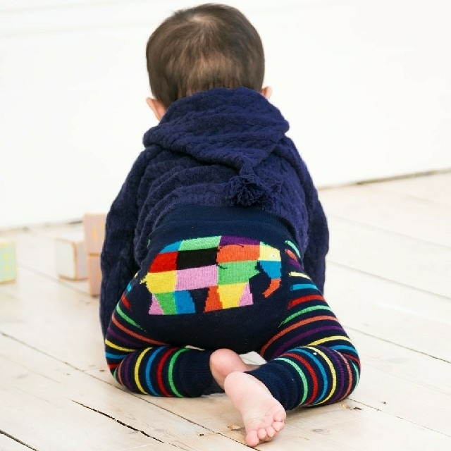 PETIT BATEAU(プチバトー)のjojo maman bebe ぞうのエルマー レギンス 6-12m キッズ/ベビー/マタニティのベビー服(~85cm)(パンツ)の商品写真