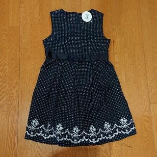 motherways - ワンピース マザウェイズ 120 ドット 刺繍 水玉 ジャンパースカート