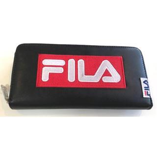 フィラ(FILA)のフィラ ラウンドファスナー ブラック(長財布)