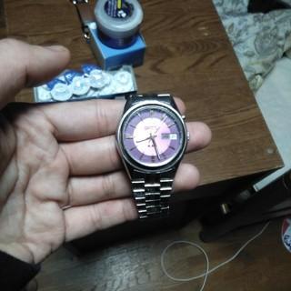 オリエント(ORIENT)のORIENT 時計 パープル(腕時計(アナログ))