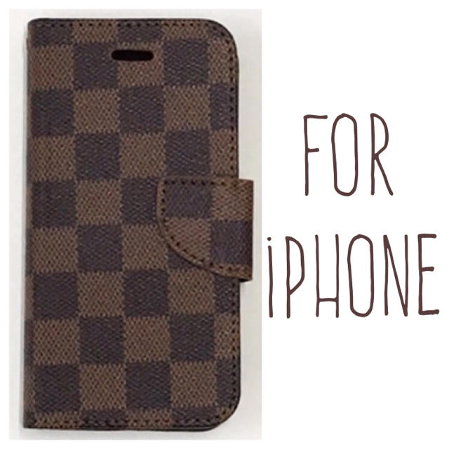 送料無料 茶 iPhoneケース iPhone8 7 plus 6 6s 手帳型の通販