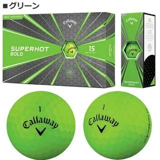 Callaway - キャロウェイ ゴルフボール スーパーホット グリーン(蛍光マットカラー) 15球