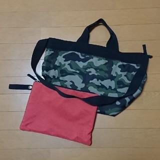 GU - GU☆迷彩トート&ショルダーバッグバッグ/ポーチ付き