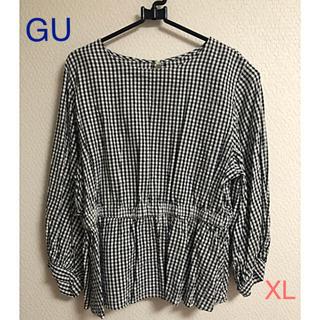 ジーユー(GU)のギンガムチェック トップス(シャツ/ブラウス(半袖/袖なし))