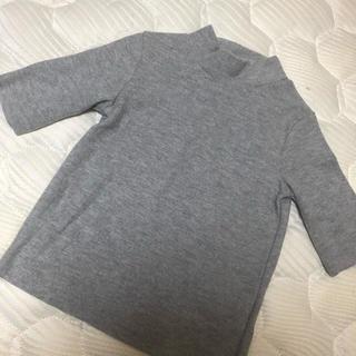 ベルシュカ(Bershka)のベルシュカ Bershka ハイネック シャツ グレー (Tシャツ/カットソー(半袖/袖なし))