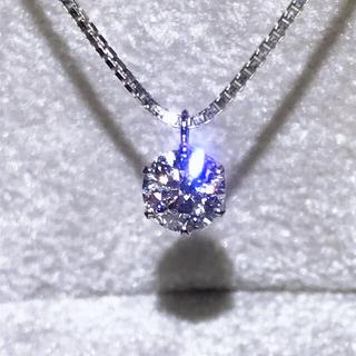 4℃ - プラチナダイヤ 一粒ダイヤネックレス0.5カラット 超美品 鑑定書付