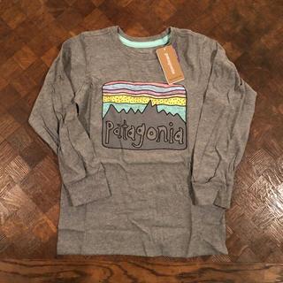 パタゴニア(patagonia)の新品 パタゴニア キッズ ロンT 4T ボーイズ ガールズ ロゴT(Tシャツ/カットソー)
