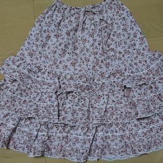 ピンクハウス(PINK HOUSE)のPINK HOUSE 花柄ロングスカート(ロングスカート)