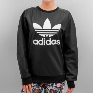 adidas - adidas originals レザー スウェット ブラック×ホワイト
