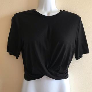 エイチアンドエム(H&M)のH&M ウエスト ツイスト Tシャツ Sサイズ ブラック(Tシャツ(半袖/袖なし))