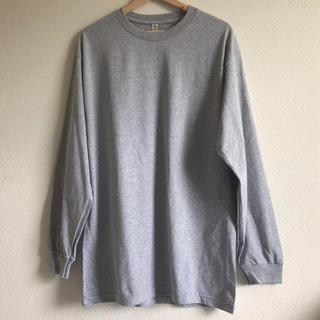 トリプルエー(AAA)のalstyle アルスタイル 無地 ロンT グレー M(Tシャツ/カットソー(七分/長袖))