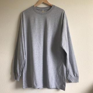 トリプルエー(AAA)のalstyle アルスタイル 無地 ロンT グレー XL(Tシャツ/カットソー(七分/長袖))