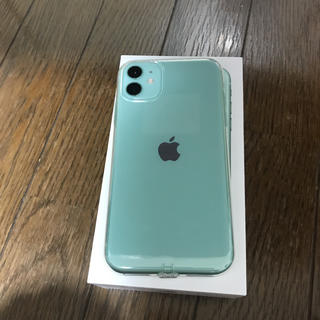 iPhone - iPhone11 128GB 本体 simフリー グリーン 付属付き