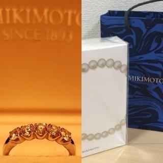 ミキモト(MIKIMOTO)のMIKIMOTOミキモト 7.5号 総0.54ct Ptダイヤリング 希少な大粒(リング(指輪))