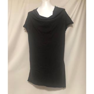 ユリウス(JULIUS)のJULIUS ユリウス 変形 カットオフ Tシャツ 2 M カットソー 黒(Tシャツ/カットソー(半袖/袖なし))