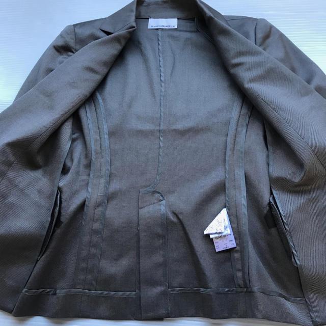 M-premier(エムプルミエ)のM-PREMIER BLACK エムプルミエ ジャケット グレー 36 レディースのジャケット/アウター(テーラードジャケット)の商品写真