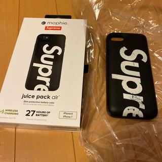シュプリーム(Supreme)のiPhone8 シュプリーム モバイルバッテリー ブラック(バッテリー/充電器)