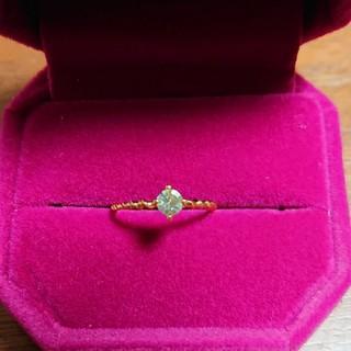 アネモネ(Ane Mone)のグリーンゴールドの指輪(リング(指輪))