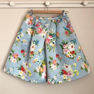 チェスティ(Chesty)のチェスティ ◆一度着美品◆ フラワー バードスカート◆chesty(ひざ丈スカート)