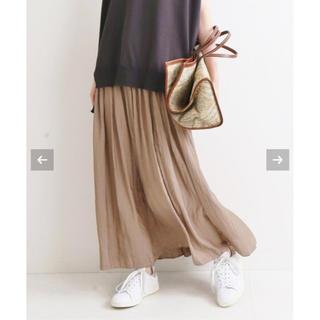 IENA - IENA ヴィンテージサテンマキシスカート
