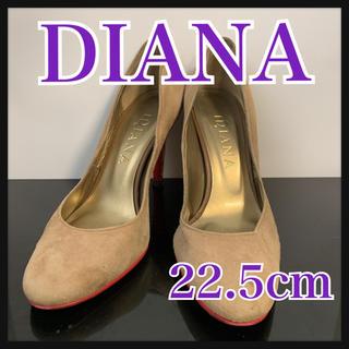 ダイアナ(DIANA)のDIANA  パンプス ベージュブラウン ヒョウ柄 スエード 22.5cm(ハイヒール/パンプス)