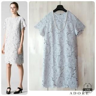 ADORE - ◆幻◆ 希少美品 定価5.3万円 ADORE ローズレースワンピース 結婚式にも
