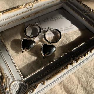 カスタネ(Kastane)のnew✧ silver heart hoop pierce(ピアス)