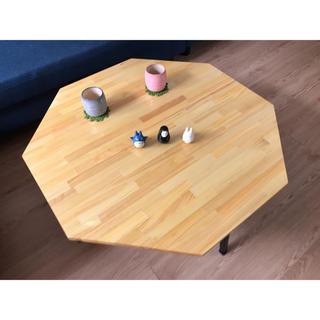 〓栄町工房〓 集成材折りたたみローテーブル 8角《ナチュラル》(ローテーブル)