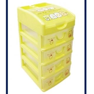 サンエックス - すみっこぐらし 黄色 5段 プラケース