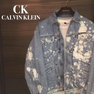 カルバンクライン(Calvin Klein)の【CK】オーバーサイズブリーチデニムジャケット【1点物90'sリメイク】6(Gジャン/デニムジャケット)
