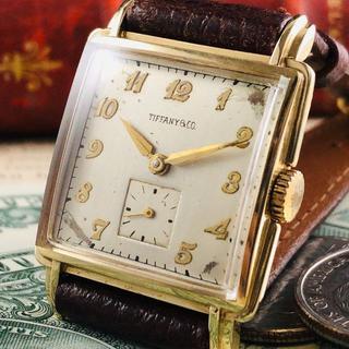 ティファニー(Tiffany & Co.)の★激希少!!14金無垢★1930's/ティファニー/モバード/腕時計(腕時計(アナログ))