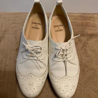 オデットエオディール(Odette e Odile)のオデットエオディール レースアップシューズ ホワイト 22(ローファー/革靴)