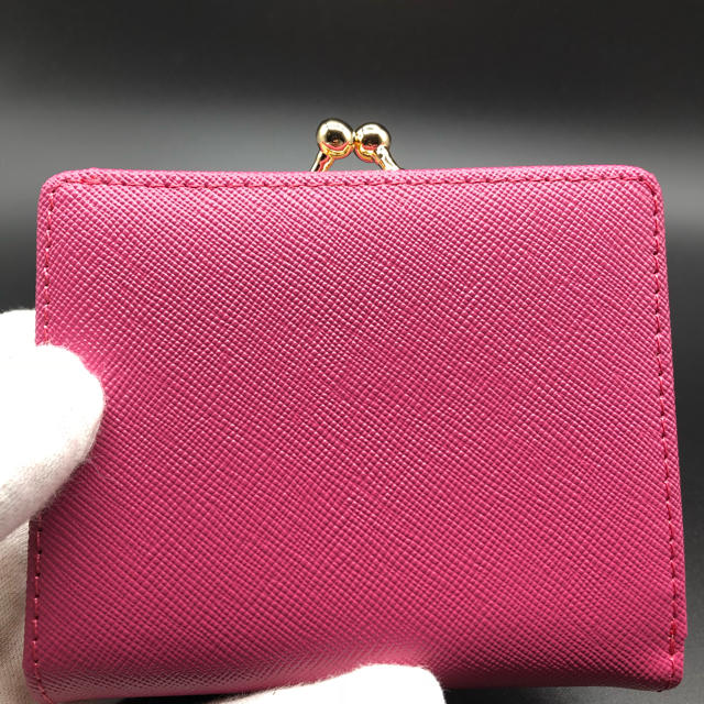 Vivienne Westwood(ヴィヴィアンウエストウッド)の【新品・正規品】ヴィヴィアン ウエストウッド 折り財布 がま口 706 ピーチ レディースのファッション小物(財布)の商品写真