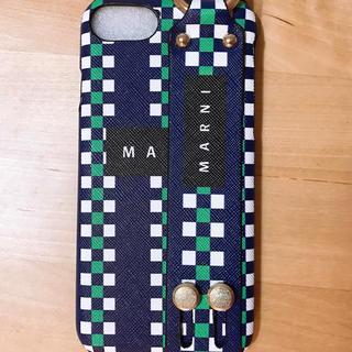 マルニ(Marni)のiphone7 iphone8 ケース マルニ  ブルー 新品未使用(iPhoneケース)