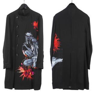 Yohji Yamamoto - ヨウジヤマモト プールオム 19ss look31 墨着色花 ジャケット