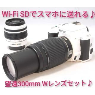 ペンタックス(PENTAX)の◆Wi-Fi仕様◆秋に大活躍!300mm Wレンズ◆Pentax k-r (デジタル一眼)