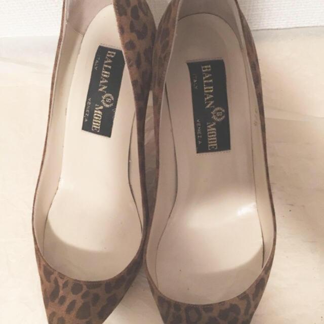 DEUXIEME CLASSE(ドゥーズィエムクラス)のアパルトモン BALDANヒョウ柄パンプス レディースの靴/シューズ(ハイヒール/パンプス)の商品写真