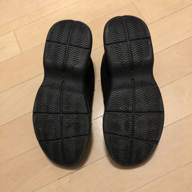 GU(ジーユー)のダッドスニーカー 黒 Mサイズ ほぼ新品 レディースの靴/シューズ(スニーカー)の商品写真