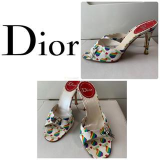 クリスチャンディオール(Christian Dior)のクリスチャンディオール レインボーペア ミュール(ミュール)