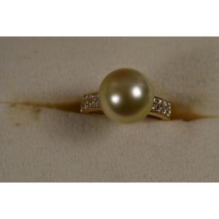 タサキ(TASAKI)のタサキ 真珠 イエローパール リング(リング(指輪))