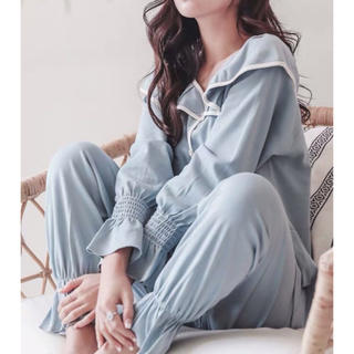 快適 安心素材 可愛い 襟付き パジャマ 《Mサイズ》