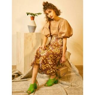 リリーブラウン(Lily Brown)のLily  brown ♡お花 レース ロング スカート(ロングスカート)