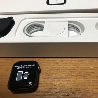 アップルウォッチ(Apple Watch)のapple Watch series4 GPSモデル 44mm 美品(スマートフォン本体)