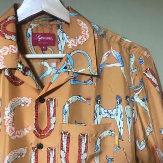 Supreme - supreme alphabet silk shirt S