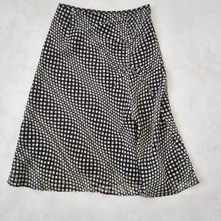ヴァンドゥーオクトーブル(22 OCTOBRE)のドッド柄スカート(ひざ丈スカート)