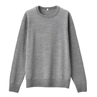 MUJI (無印良品) - ★新品★ 無印良品ウールシルク洗えるクルーネックセーター/グレー/L