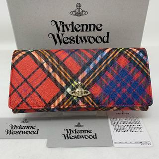 Vivienne Westwood - 新品☺︎Vivienne Westwood  長財布 タータンチェック 赤 黒