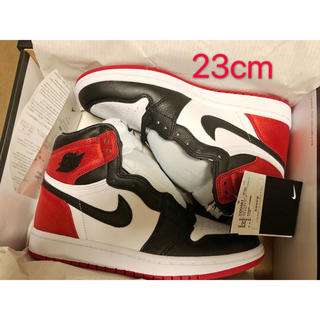 NIKE - Air jordan 1 black toe 23cm