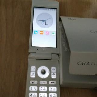 キョウセラ(京セラ)のほぼ新品! au  GRATINA4G KYF31 ホワイト その2(携帯電話本体)