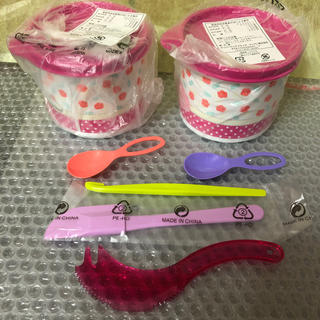 aiko様専用タッパーウェア スモールキャニスター&小物(収納/キッチン雑貨)